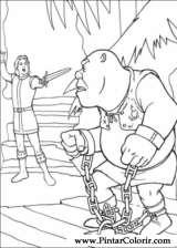 Pintar e Colorir Shrek Terceiro - Desenho 004