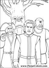 Pintar e Colorir Shrek Terceiro - Desenho 006