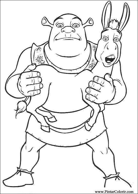 Desenhos Para Pintar E Colorir Shrek Imprimir Desenho 001
