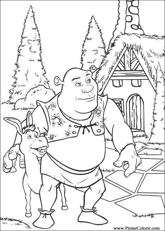 Desenhos Para Pintar E Colorir Shrek Imprimir Desenho 006