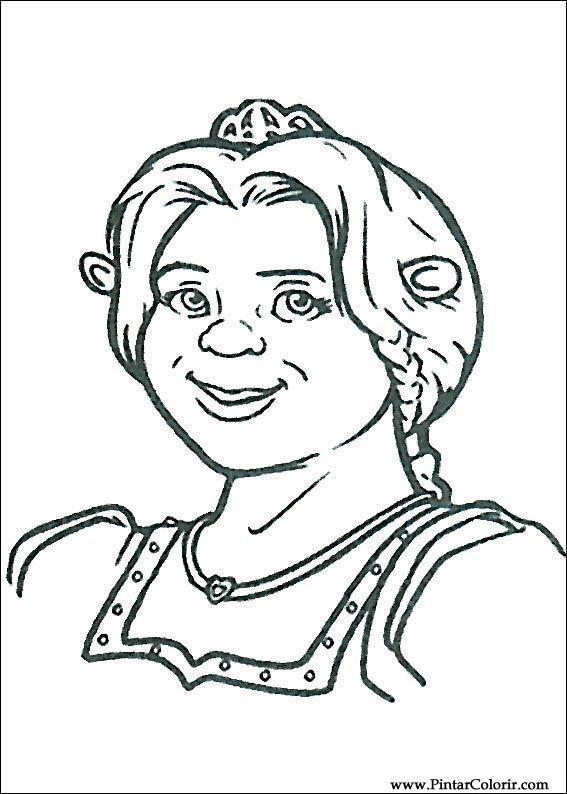Dibujos para pintar y Color Shrek - Diseño de impresión 019