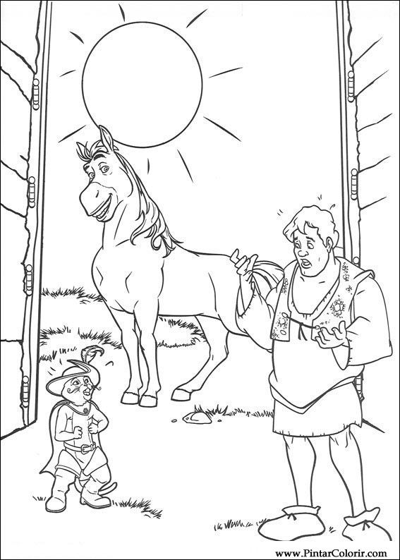 Drawings To Paint Colour Shrek Print Design 028
