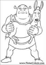 Pintar e Colorir Shrek - Desenho 001