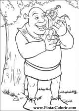 Pintar e Colorir Shrek - Desenho 002