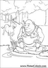 Pintar e Colorir Shrek - Desenho 003