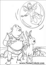 Pintar e Colorir Shrek - Desenho 005