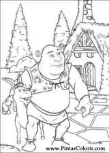 Pintar e Colorir Shrek - Desenho 006