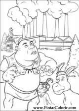 Pintar e Colorir Shrek - Desenho 007