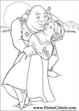 Desenhos Para Pintar E Colorir Shrek Imprimir Desenho 045