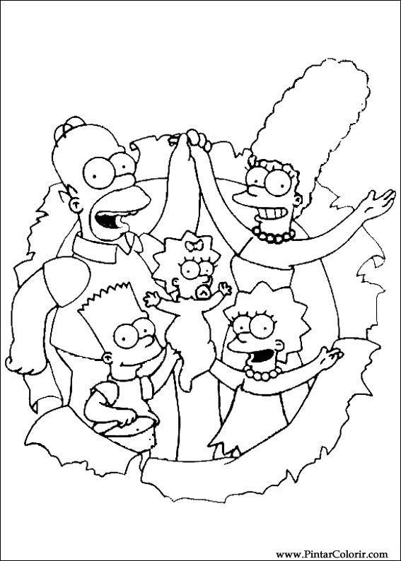 Desenhos Para Pintar E Colorir Simpsons Imprimir Desenho 014