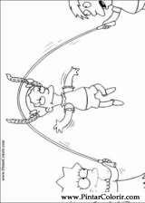 Pintar e Colorir Simpsons - Desenho 002