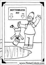 Pintar e Colorir Simpsons - Desenho 012