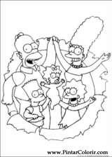 Pintar e Colorir Simpsons - Desenho 014