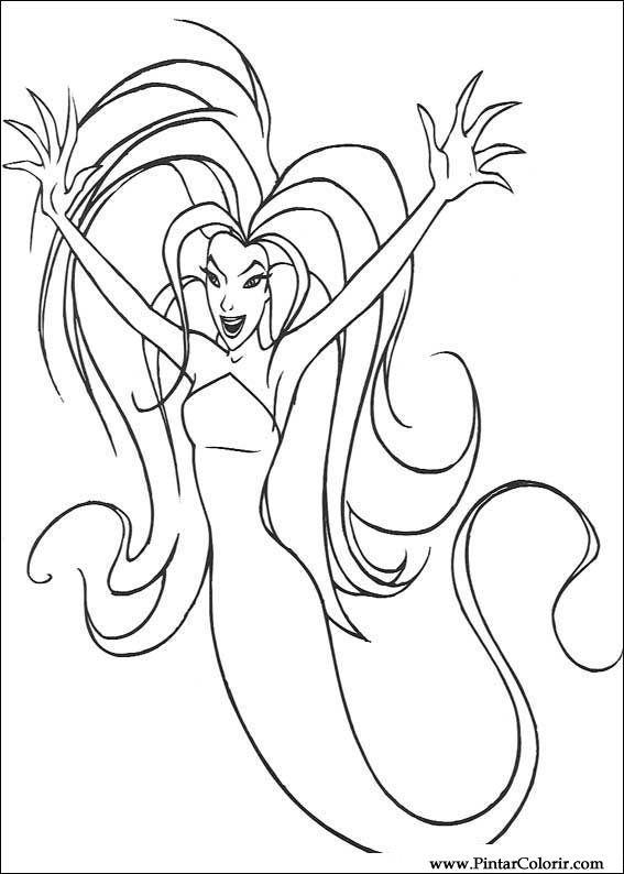 çizimler Ve Boya Için Renkli Sinbad Baskı Tasarım 006