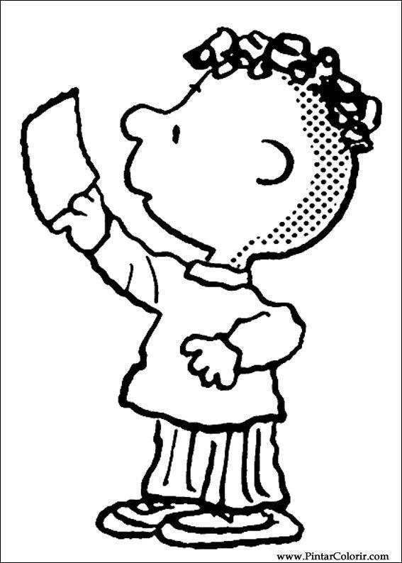 Desenhos Para Pintar E Colorir Snoopy Imprimir Desenho 008