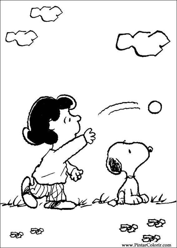 Desenhos Para Pintar E Colorir Snoopy Imprimir Desenho 012
