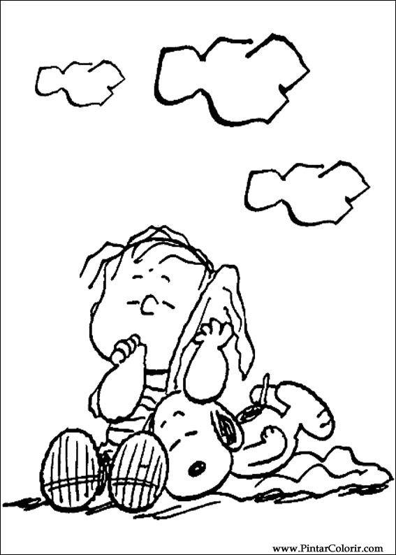 Desenhos Para Pintar E Colorir Snoopy Imprimir Desenho 013
