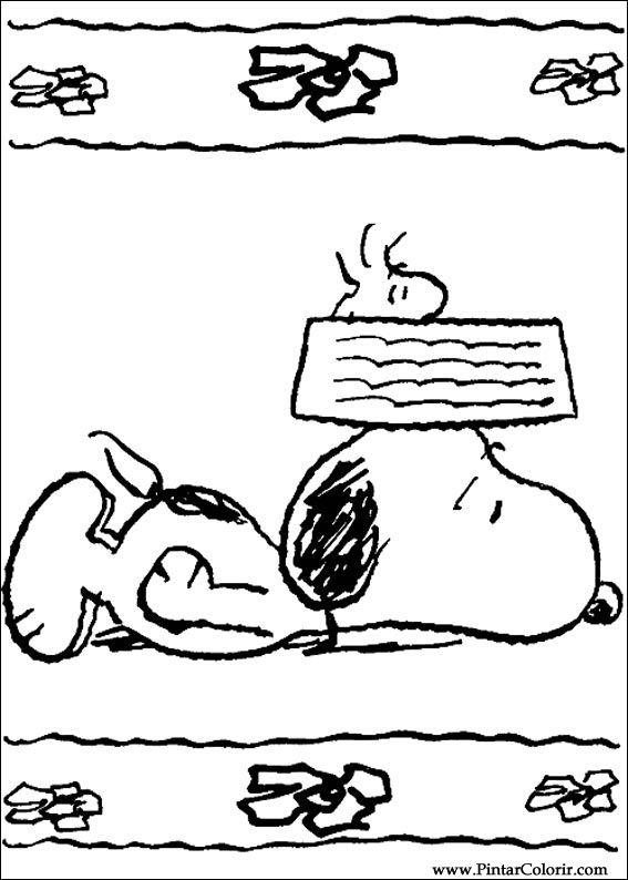 Desenhos Para Pintar E Colorir Snoopy Imprimir Desenho 015
