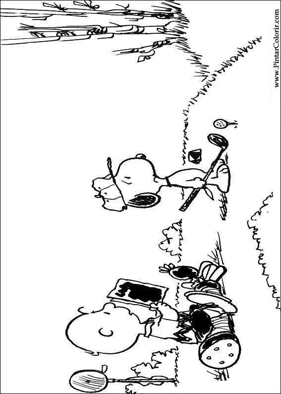 Pintar e Colorir Snoopy - Desenho 023