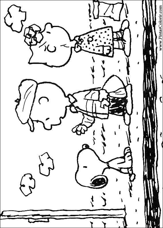 スヌーピーのペイントカラー図面 プリントデザイン030