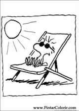 Pintar e Colorir Snoopy - Desenho 010