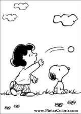 Pintar e Colorir Snoopy - Desenho 012