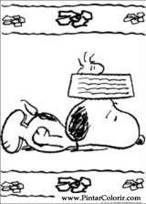 Pintar e Colorir Snoopy - Desenho 015