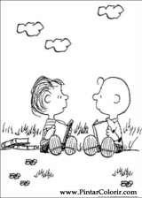 Pintar e Colorir Snoopy - Desenho 016