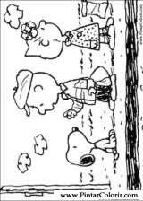 Pintar e Colorir Snoopy - Desenho 030