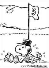 Pintar e Colorir Snoopy - Desenho 034