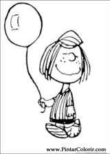 Pintar e Colorir Snoopy - Desenho 040