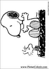 Pintar e Colorir Snoopy - Desenho 043