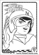 Pintar e Colorir Speed Racer - Desenho 001