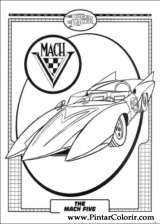 Pintar e Colorir Speed Racer - Desenho 005