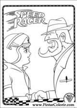 Pintar e Colorir Speed Racer - Desenho 007