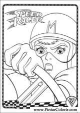 Pintar e Colorir Speed Racer - Desenho 008