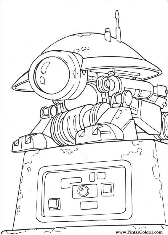 Pintar e Colorir Star Wars - Desenho 003