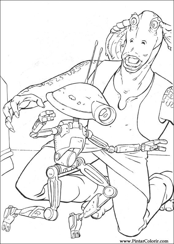 Pintar e Colorir Star Wars - Desenho 004