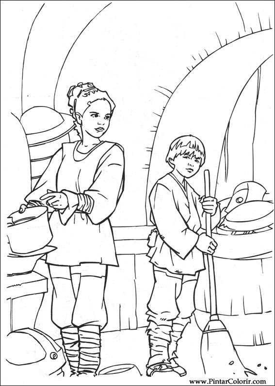 Drawings To Paint Colour Star Wars Print Design 019