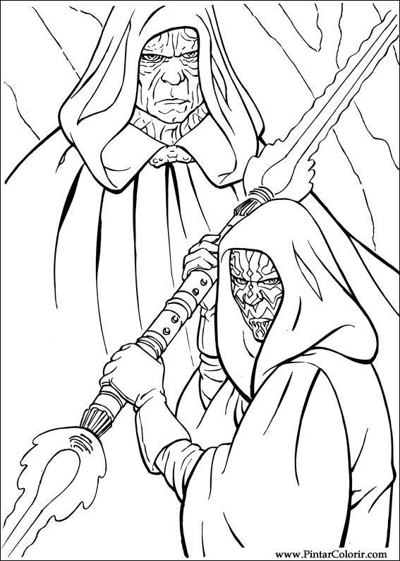Dibujos para pintar y Color Star Wars - Diseño de impresión 032