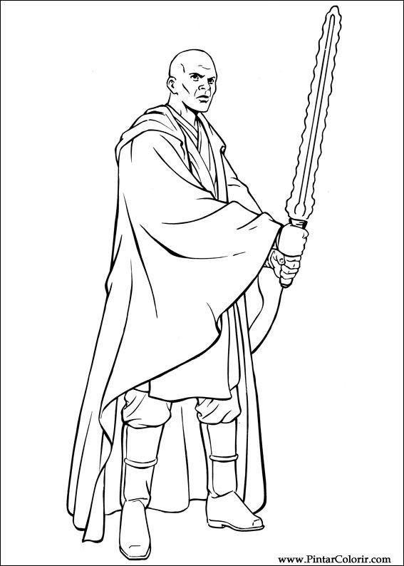 Desenhos Para Pintar E Colorir Star Wars Imprimir Desenho 037