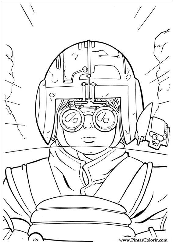 Desenhos Para Pintar E Colorir Star Wars Imprimir Desenho 044