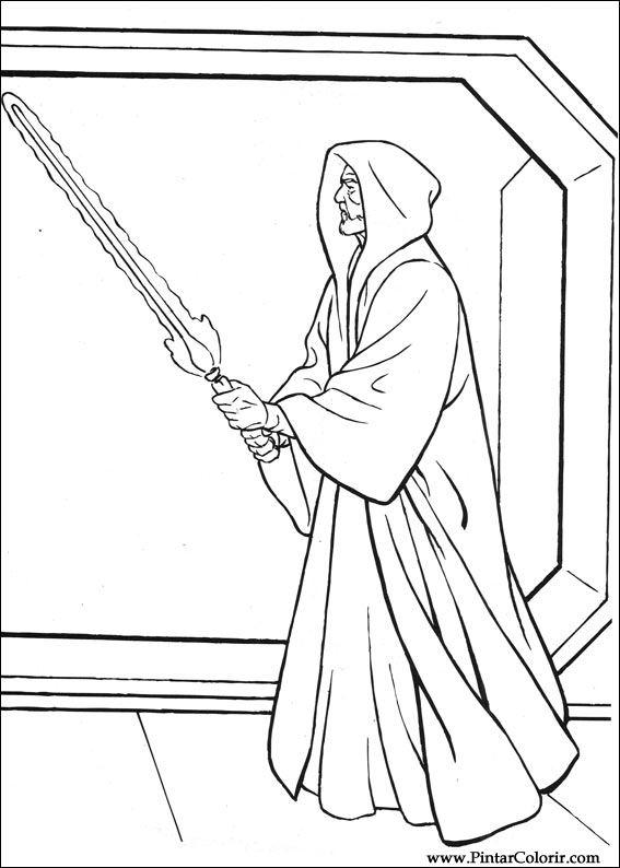 Disegni Per Dipingere Colour Star Wars Stampare Realizzazione 049