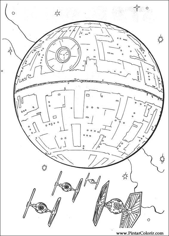 çizimler Boya Ve Renk Star Wars Için Baskı Tasarım 081