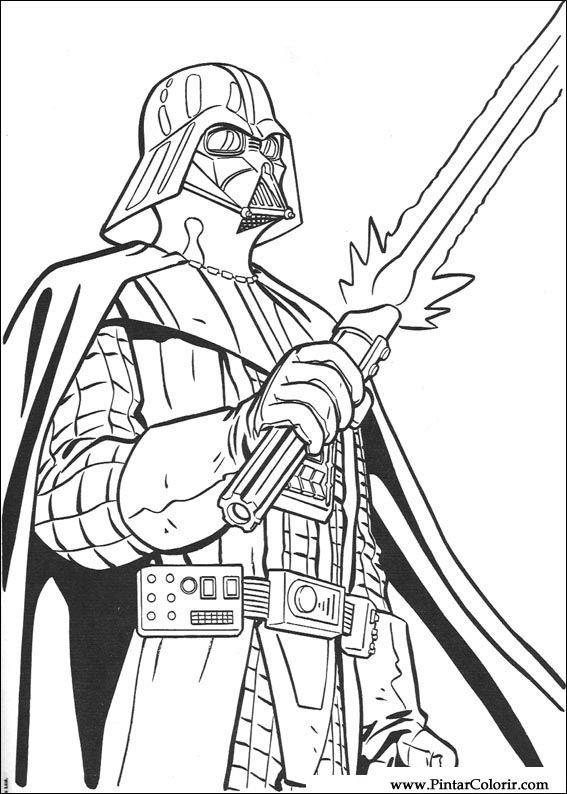 Disegni Per Dipingere Colour Star Wars Stampare Realizzazione 083