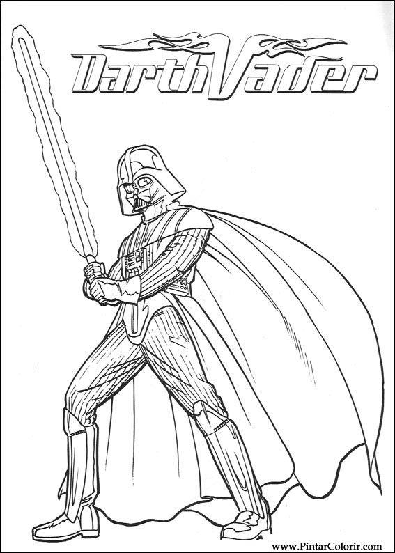 Desenhos Para Pintar E Colorir Star Wars Imprimir Desenho 085