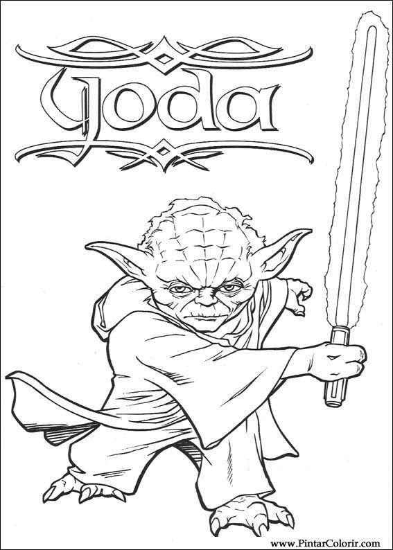 Dibujos para pintar y Color Star Wars - Diseño de impresión 088