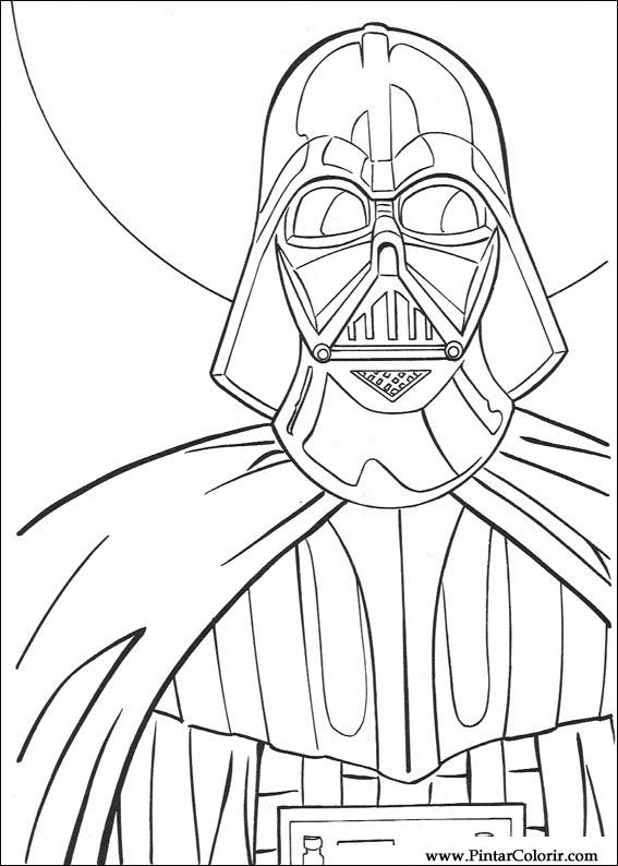 Drawings To Paint & Colour Star Wars - Print Design 095