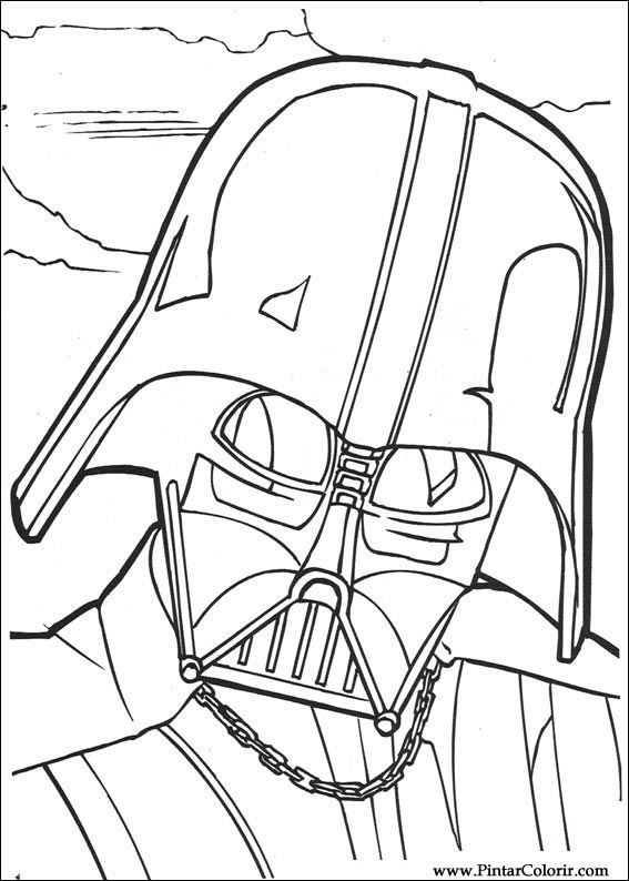 Dibujos para pintar y Color Star Wars - Diseño de impresión 101