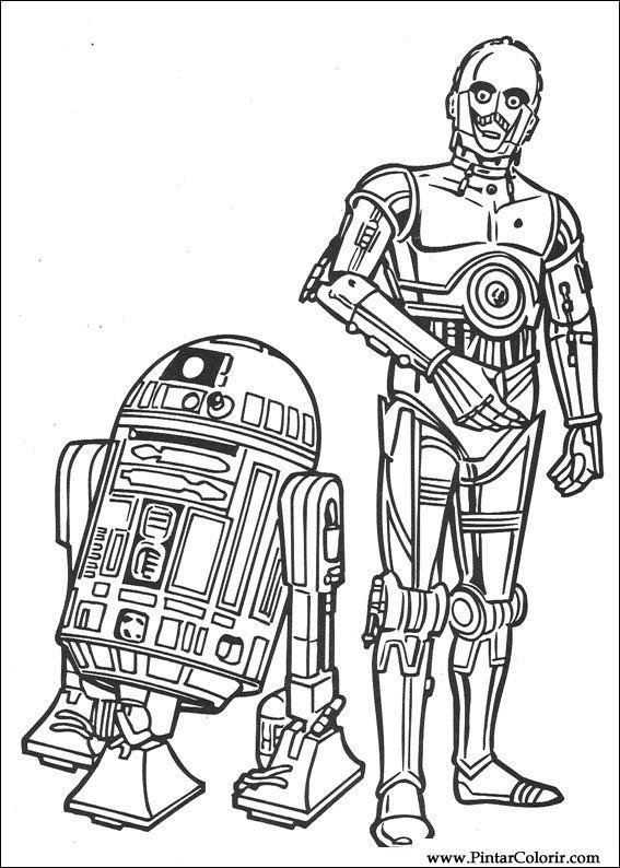 Desenhos Para Pintar E Colorir Star Wars Imprimir Desenho 104